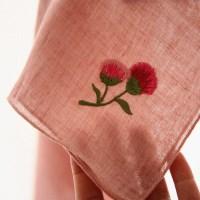 카네이션 자수손수건(핑크) CARNATION HANKIE ver.2
