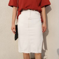 Cotton stitch skirt