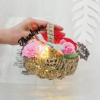 미니 카네이션 꽃바구니(LED조명 무드등)