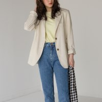 two size basic linen jacket