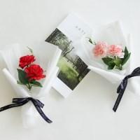 실크플라워 카네이션꽃다발 [2color]_(575804)