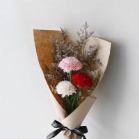 카네이션 3송이 & 미스티블루 꽃다발