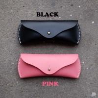 가죽안경케이스 블랙/핑크