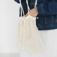 String knit net bag