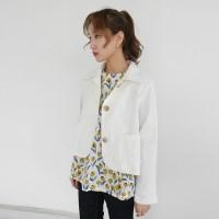 Closet short linen jacket