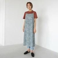 Leaf slip dress