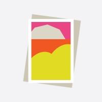 Message Card - 03. Orange Ocean