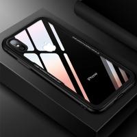 아이폰8/8+/X 후면 강화유리 크리스탈 범퍼 케이스