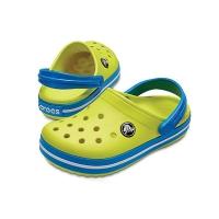 [Crocs 공식] Crocband Clog K-Tennis Ball Green/Ocean