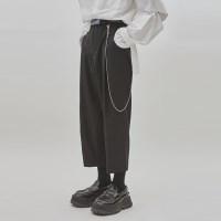 tuck crop slacks (2 color) - UNISEX_(929039)