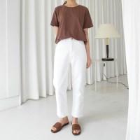Clean white cotton pants