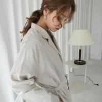 Linen natural robe jacket