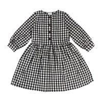 [리틀비티]클래식 버튼 드레스 (체크 블랙)_(765049)