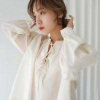 Ballon shirring blouse