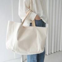 Natural cutting canvas bag