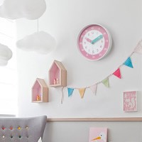 아토 무소음 교육용 벽시계 (핑크)