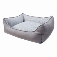 CASUAL SQUARE BED (GREY)
