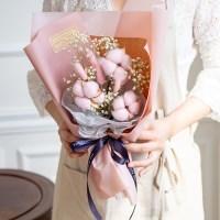 시그니쳐 목화와 허니테일꽃다발 [2color]_(580867)