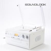 사운드룩 화이트 LP턴테이블 SLT-300W
