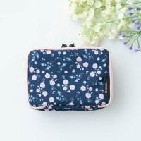 프리윌x마리몬드 MULTI POUCH DAILY - peach blossom navy