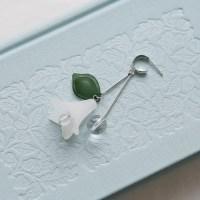 flower and ball drop earrings