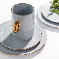 [J TABLE]아덴 골드라인 카페 롱머그(크리미 블루)_(1624899)