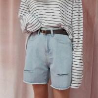 Loose damage cutting shorts(벨트세트상품)