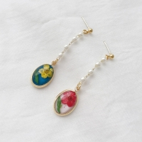 press flower earrings (2colors)