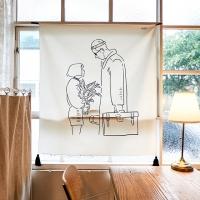메모리얼 드로잉 패브릭 포스터 / 가리개커튼