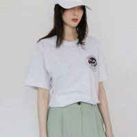 [치즈달] 'MARIBU' 그래픽 코튼 티셔츠
