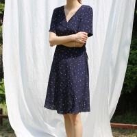 Adorable heart wrap dress