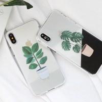 [Trycozy]그리너리 투명젤리 케이스(LG폰)