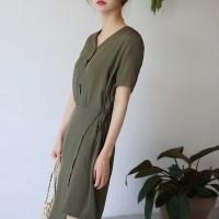 Girlish lignt wrap dress
