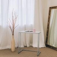 [라쏨] 책상형 사이드테이블 라벤더 화이트 대리석