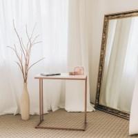 [라쏨] 책상형 사이드테이블 라벤더 핑크