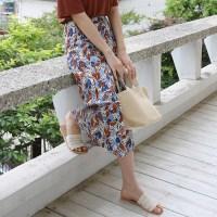 Sensual printing long skirt