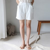 Comfortable button half pants