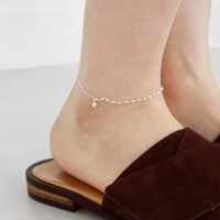 Silver small cubic point anklet (silver 925)