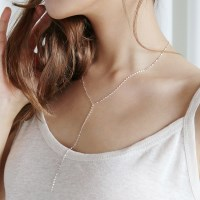Silver sleek long necklace (silver 925)