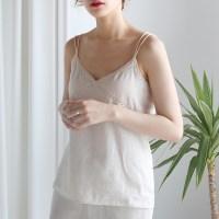 Lace cross string sleeveless