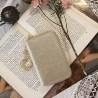 D.LAB Twinkle Zipper Wallet - Sand Gold_(682156)