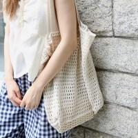 Open knit big bag