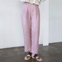 Light linen wide pants