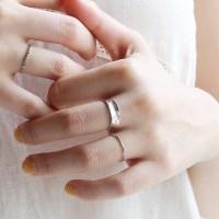 Silver luminous broaden ring (silver 925)