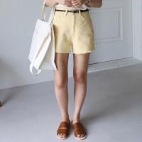 Basic cotton washing shorts