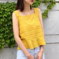 Lovely frill string sleeveless