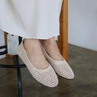 Wispy mesh flat shoes