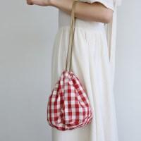 Check bucket mini handbag