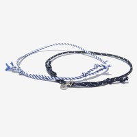 Unisex Marine Anchor Fabric 2 Bracelet / 마린 닻 페브릭 팔찌