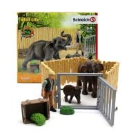 [슐라이히] 코끼리 가족과 울타리_(301565404)